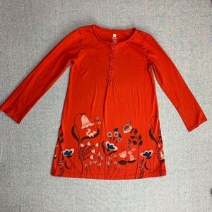 Tea Collection girls size 7 long sleeve dress